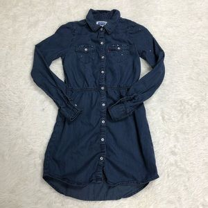 Levi's Youth Sz 10 Denim Rhinestone Dress shirt